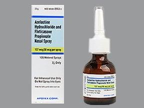 azelastine-fluticasone 137 mcg-50 mcg/spray nasal spray
