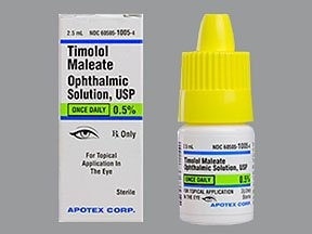 timolol maleate 0.5 % once daily eye drops