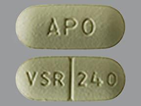 verapamil ER (SR) 240 mg tablet,extended release
