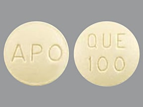 quetiapine 100 mg tablet