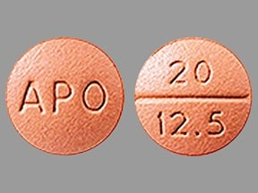 quinapril 20 mg-hydrochlorothiazide 12.5 mg tablet