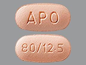 valsartan 80 mg-hydrochlorothiazide 12.5 mg tablet