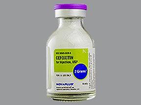 cefoxitin 2 gram intravenous solution