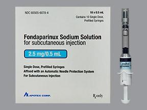 fondaparinux 2.5 mg/0.5 mL subcutaneous solution syringe