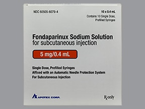 fondaparinux 5 mg/0.4 mL subcutaneous solution syringe