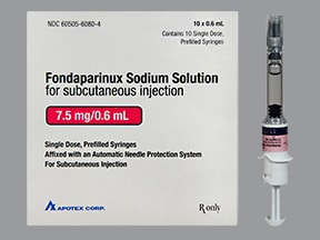 fondaparinux 7.5 mg/0.6 mL subcutaneous solution syringe