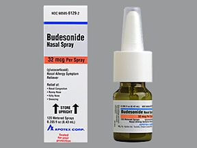 budesonide 32 mcg/actuation nasal spray
