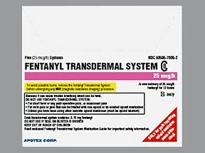 fentanyl 25 mcg/hr transdermal patch ...