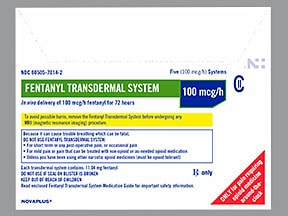fentanyl 100 mcg/hr transdermal patch
