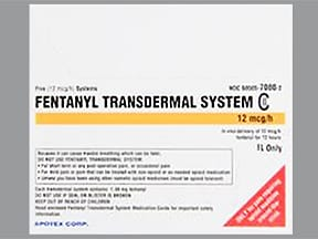 fentanyl 12 mcg/hr transdermal patch