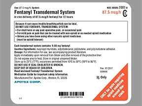 fentanyl 87.5 mcg/hour transdermal patch