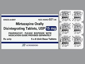 mirtazapine 15 mg disintegrating tablet