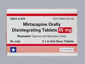 mirtazapine 45 mg disintegrating tablet