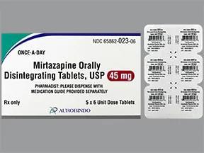 mirtazapine 45 mg disintegrating tablet