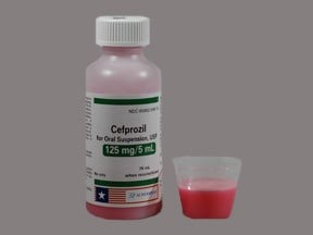 cefprozil 125 mg/5 mL oral suspension