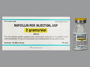 nafcillin 2 gram solution for injection