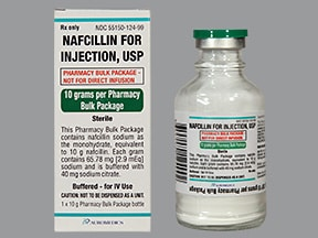 nafcillin 10 gram solution for injection