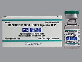 lidocaine (PF) 20 mg/mL (2 %) injection solution