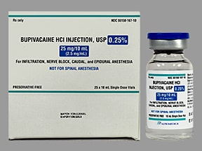bupivacaine (PF) 0.25 % (2.5 mg/mL) injection solution