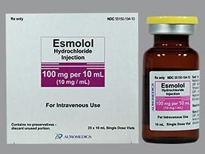esmolol 100 mg/10 mL (10 mg/mL) intravenous solution