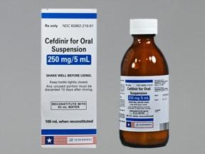 cefdinir 250 mg/5 mL oral suspension