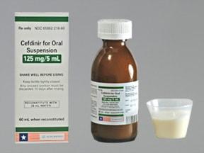 cefdinir 125 mg/5 mL oral suspension