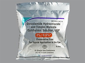 dorzolamide-timolol (PF) 2 %-0.5 % eye drops in a dropperette
