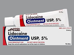 lidocaine 5 % topical ointment