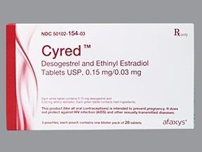 Cyred 0.15 mg-0.03 mg tablet