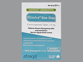 Econtra One-Step 1.5 mg tablet