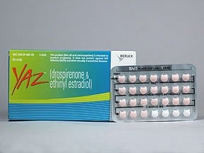 YAZ (28) 3 mg-20 mcg tablet