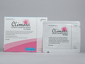 Climara 0.05 mg/24 hr transdermal patch