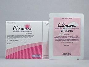 Climara 0.1 mg/24 hr transdermal patch