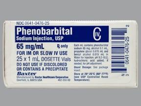 phenobarbital sodium 65 mg/mL injection solution
