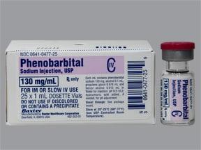 phenobarbital sodium 130 mg/mL injection solution
