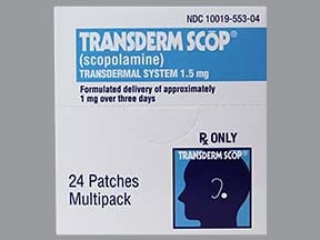 Transderm-Scop 1.5 mg transdermal patch (1 mg over 3 days)