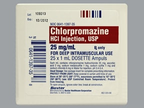 chlorpromazine 25 mg/mL injection solution