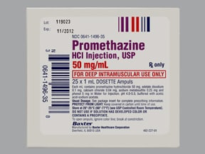 promethazine 50 mg/mL injection solution