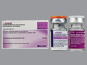 Advate 1,500 (+/-) unit intravenous solution