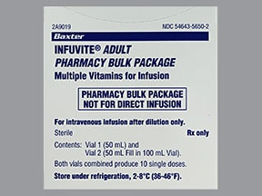 Infuvite Adult 3300 unit-150 mcg/10 mL intravenous solution