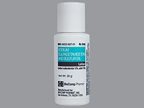 sulfacetamide sodium-sulfur 10 %-5 % (w/w) lotion