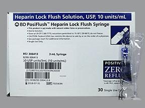 Heparin Lock Flush (Porcine) (PF) 10 unit/mL intravenous syringe