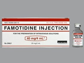 famotidine 10 mg/mL intravenous solution