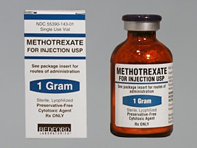 methotrexate sodium (PF) 1 gram solution for injection