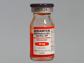 Adriamycin 10 mg/5 mL intravenous solution