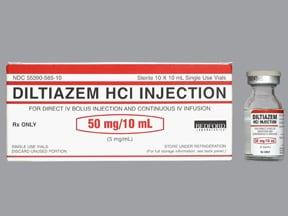 diltiazem 5 mg/mL intravenous solution