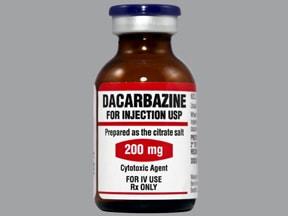 dacarbazine 200 mg intravenous solution