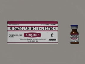midazolam (PF) 5 mg/mL injection solution