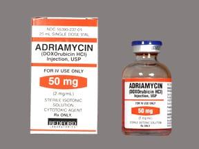 Adriamycin 50 mg/25 mL intravenous solution
