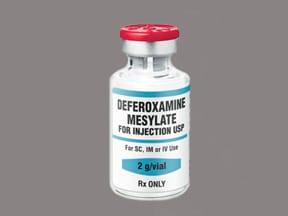 deferoxamine 2 gram solution for injection